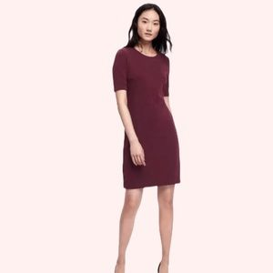 Old Navy Maroon Ponte Knit Shift Textured Dress XL